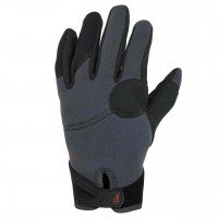 Palm Throttle Gloves  - Jet Grey, L